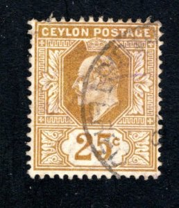 Ceylon #173,  F/VF, Used, CV $11.00 ....  1290138