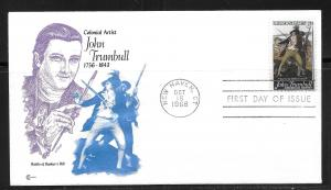 United States 1361 John Trumbull Cachet Craft First Day Cover FDC (z2)