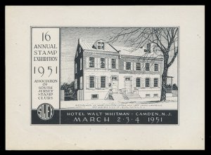 SOJEX 1951 (16th) Stamp Show - MINT, Never Hinged, F-VF or Better
