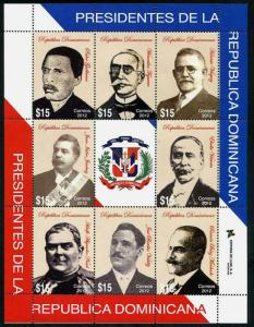 HERRICKSTAMP NEW ISSUES DOMINICAN REPUBLIC Sc.# 1531 Presidents 2012 Sheetlet