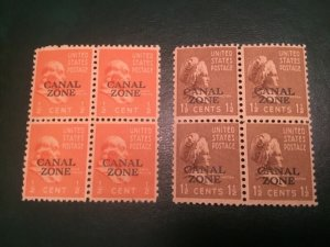 ICOLLECTZONE Canal Zone #118-119 VF NH Block