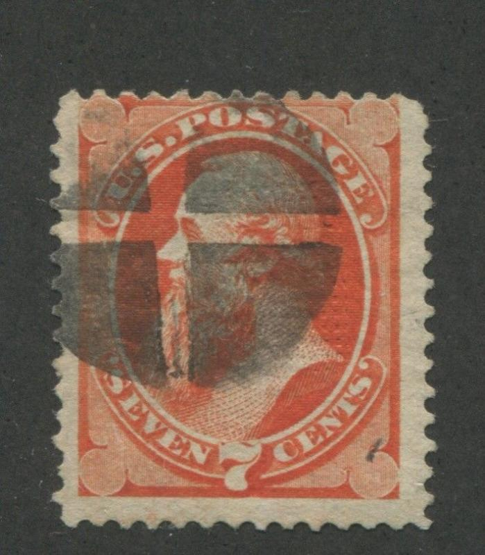 1871 US Stamp #138 7c Used Average H. Grill  Catalogue Value $475