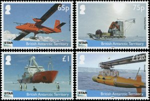 British Antarctic Territory 2014 Sc 477-480 Penguin Ship Plane CV $10.50