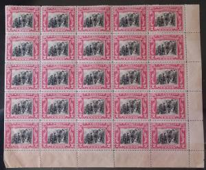 US  #651 F/VF mint never hinged, LARGE BLOCK of 25,  Super nice and tough to ...