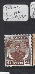 MALAYA  JOHORE  (P0509B)  SULTAN 4C  SG 136  MNH