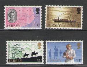 Jersey Sc 164-7 1976 Dr Grandin stamps mint NH