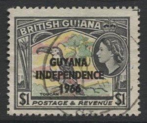 STAMP STATION PERTH Guyana #17 Used Wmk.314 Upright 1966-67