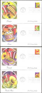 #3825-28 Holiday Music Makers Fleetwood FDC Set