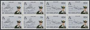 ST HELENA 1984 Royal Visit Prince Andrew set MNH blocks of 4...............57690