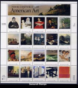 3236 Four Centuries of American Art 32c Full Sheet wacered