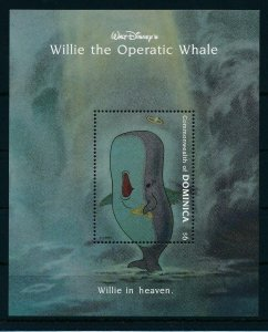 [22229] Dominica 1993 Disney Willie the Operatic Whale in heaven MNH