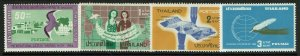 Thailand SC# 423-426, Mint Never Hinged, 425 Hinged, two rems, minor creasing -
