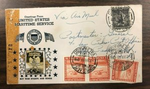 Crosby Chile Flight Cover 1943 Patriotic Uncle Sam photo BUY WAR STAMPS & BONDS
