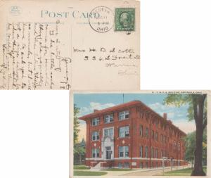 United States Ohio Geneva 1919 numeral duplex  PPC (Y.M.C.A. Building, Ashtab...