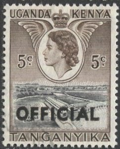 TANGANYIKA  1959 Sc O1 5c Used VF  Official stamp