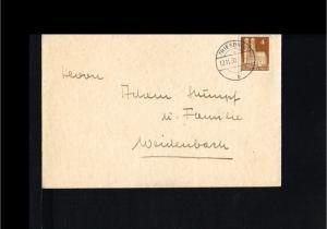 1950 - Allied Occupation Cover - From Triersdorf to Weidenbach [B09_166]