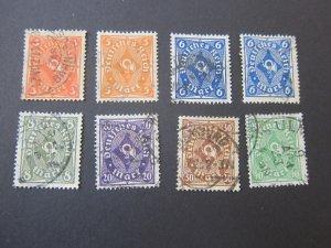 Germany 1922 Sc 186,188-93,189a 8(v) FU