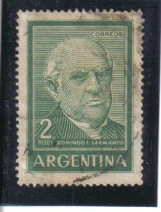 Argentina #742A used f. dirty, creased.