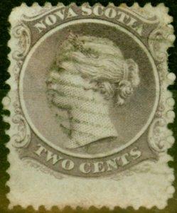 Nova Scotia 1860 2c Grey-Purple SG11 Good Used