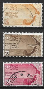 COLLECTION LOT OF # 846 ITALY # C79-81 1935 CV+$56