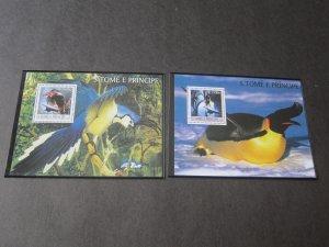 St. Thomas & Prince Islands 2003 Sc 1485-6 Bird set MNH