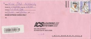 Qatar 1R and 5R Sheik Khalifa c1998 Doha Airmail Registered to Scranton, Penn...