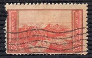 741 2 cent Grand Canyon, Red F-VF used