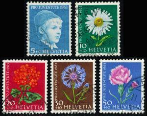 Switzerland Scott B329-B333 Mint never hinged.