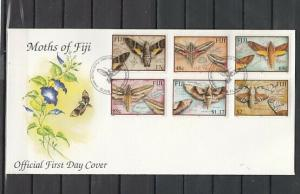 Fiji, Scott cat. 908-913. Moths of Fiji issue. First day cover.