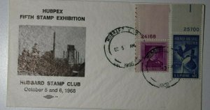 HUBPEX Hubbard OH 1966 Philatelic Expo Cachet Cover