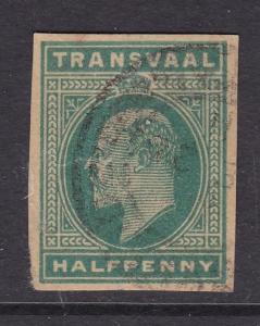 Transvaal half Penny Edward VII Postal Stationary Cutout VGC