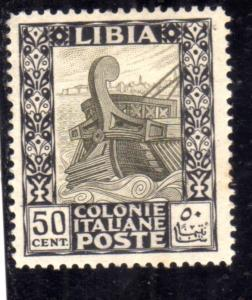 LIBIA 1921 PITTORICA CENT. 50c MLH BEN CENTRATO