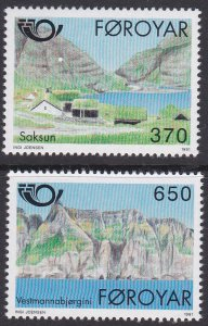 Faroe Islands Sc #226-227 MNH