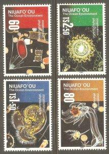 TONGA NIUAFO'OU Sc# 194 - 197 MNH FVF Set4 Ocean Zooplankton Phytoplankton
