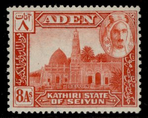 ADEN - Kathiri GVI SG8, 8a red, NH MINT.