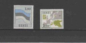 ESTONIA #209-210  1991 FLAG AND ARMS     MINT  VF NH  O.G