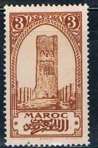 French Morocco 92 MLH Tower of Hassan 1923 (F0114)+