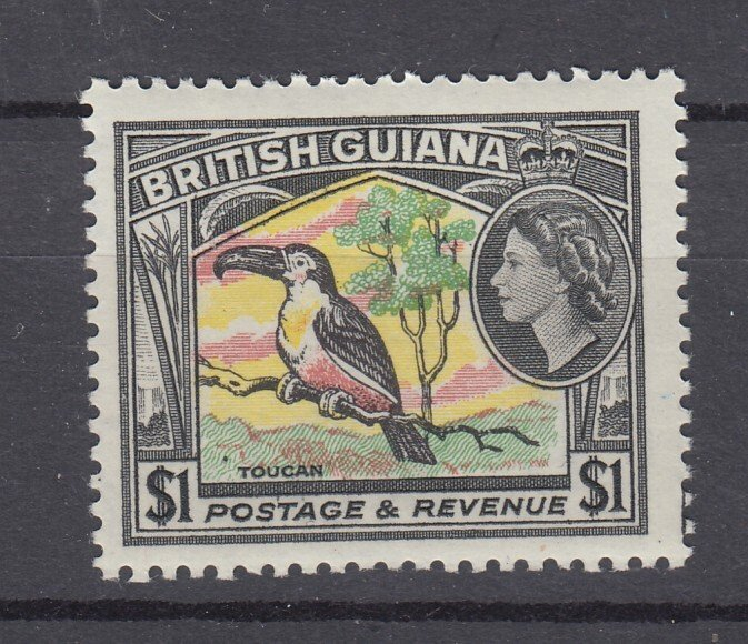 J27928 1963-5 br guiana mh, #286 wmk 314 bird