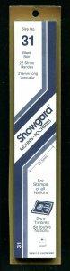 Showgard BLACK Strip Mounts Size 31 = 31.5 mm Fresh New Stock Unopened