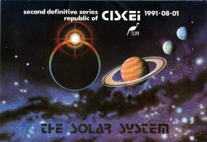Ciskei - 1991 Solar System MS FD Folder SG MS201