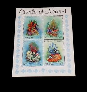 NEVIS #166a 1983, CORAL'S OF NEVIS, SOUVENIR SHEET, MNH, NICE! LQQK