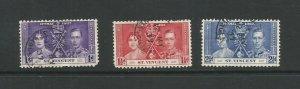 St Vincent 1937 Coronation Used Set SG 146/148
