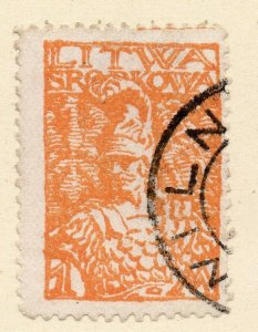 LITHUANIA 1920-22 Early Issue Fine Used 1m. NW-07172