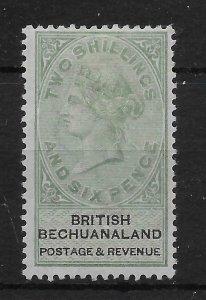 BECHUANALAND SG17 1888 2/6 GREEN & BLACK MTD MINT