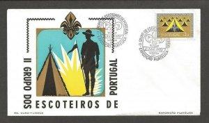 1964 Portugal Scouts II Grupo dos Escotieros Exposicao Filatelica