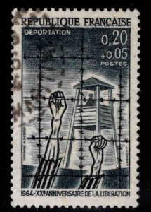FRANCE Scott B377 Used Concentration camp stamp