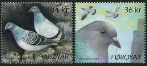 Faroe 520-521,MNH. Rock Pigeons,2009.