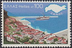 Greece # 1190 mnh ~ 100d View of Samos, Map