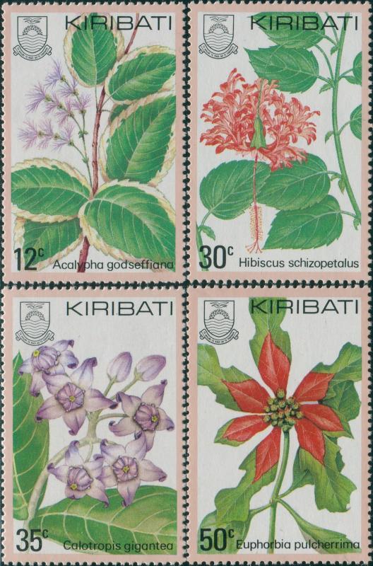 Kiribati 1981 SG141-144 Flora set MNH