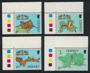 Jersey Fortresses Drawings by Thomas Phillips 4v Top Left Corners Traffic Lights